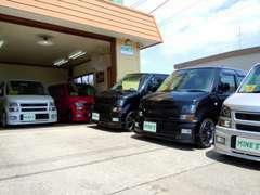 ガレージも完備しており、簡単な整備ならその場で行えます。ぜひ、お立ち寄りください。