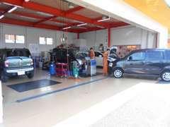 認証工場、民間車検場完備です。車検の速太郎甲府バイパス店としてフランチャイズへ加盟してます。整備も安心してお任せ下さい!