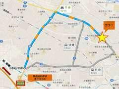 お店までの地図です。カーナビには住所を入力してください。