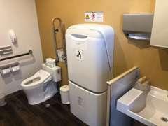 多目的トイレも完備していますのでおむつ替えなども気兼ねなくご使用頂けます