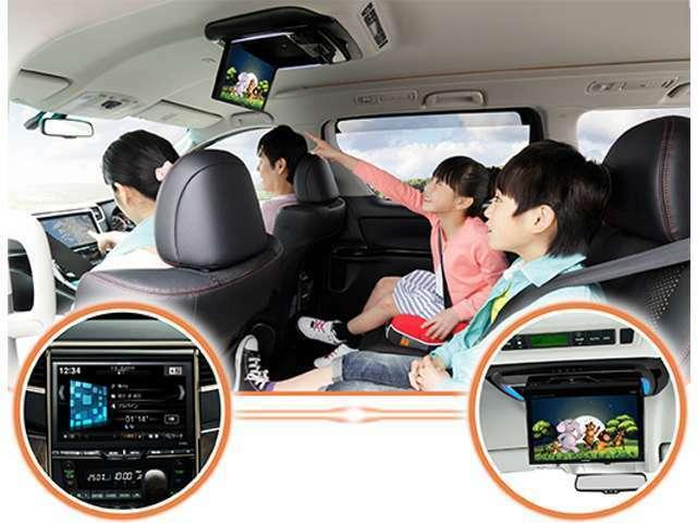 Aプラン画像:車内が、子供たちを夢中にさせる贅沢なホームシアターに早変わり!大画面&高画質リアビジョン