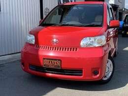 真っ赤なコンパクトカーが入庫しました!アメ車の整備及び仕上げで培った技術を持って、内外装セミレストアしてます!
