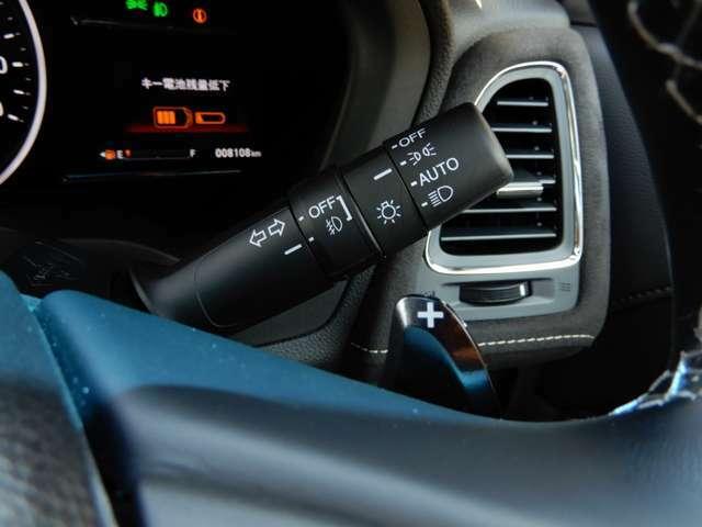 ヘッドライトのオートライト機能がついています。周囲の明るさを感知して、自動で点灯してくれます。
