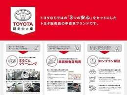 こちらのお車はTOYOTA認定中古車です。トヨタ認定車両検査員が厳正な検査を行っており、お車の総合評価をわかりやすく点数・段階表示しております!