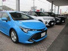 新車展示車・試乗車・U-Carも人気車を揃えています。