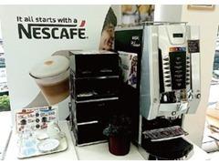 提供するコーヒーはカフェスタイルと同等のコーヒーベンダー。くつろげるカフェータイムがいつでもお客様をお待ちいたしてます。