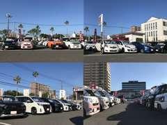 コンパクト・軽自動車・セダン・ミニバン・ハイブリッド多数展示。夏空の下、絶賛営業中です!ごゆっくりご覧ください!!