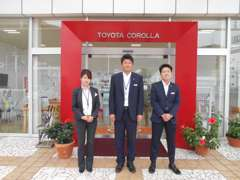 WEB担当チーム2係(田村・奥田・上田)が車探しのお手伝いをさせて頂きます♪