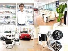新車か中古車まで、お車のこと何でもご相談ください!ショールームには新車の展示もございます。