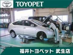 サービス工場完備でメンテナンスはバッチリ! 車検から板金まで、頼れるメカニックにお任せください♪