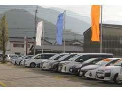 軽自動車から1BOXまで多数のタイプの中古車を展示しております。
