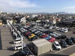 国道2号線に面した、新・中一体大型店舗!展示車両も豊富です!