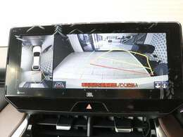 シースルービュー機能付きパノラミックビューモニター☆車を透かして外を見るような映像で周辺確認が行えます☆バックモニターにはウォッシャー機能も付いています☆