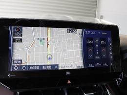 12.3型インチワイドタッチディスプレイSDナビを装備☆横長の画面を2分割する形のナビ表示☆9スピーカーのJBLプレミアムサウンドシステムです☆