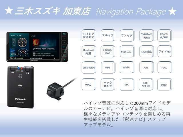 Aプラン画像:ケンウッドMDVS706ハイレゾ対応/地上デジタルTVチューナー/BluetoothR内蔵、DVD/USB/SD AVナビゲーション+ケンウッドマルチビューリアカメラ+パナソニックETCセットUP込