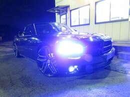 真っ青LEDヘッドライト&LEDフォグライトに交換済みです