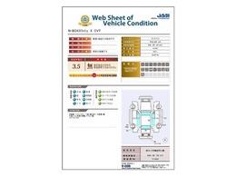 日本査定協会発行『車両状態証明書』付。修復有無の表記と、図を見ながら状態を実写でご確認いただけます。