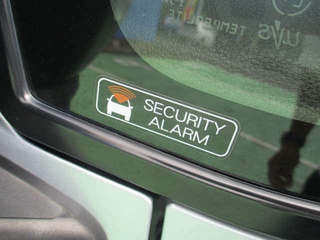 愛車を守るセキュリティアラーム付。