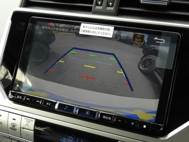 クリアランスソナーと大きい画面で見るバックモニターで駐車もし易いですね!