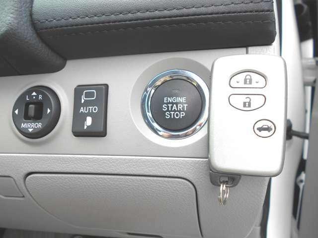 これは1度使ったら手放せない便利な装備です!スマートキー&プッシュスタートでドアロックの開閉もエンジンスタートもワンタッチで簡単楽々!特に雨の日の乗降時には本当に便利で嬉しい装備です!