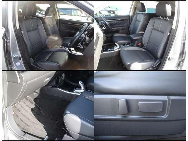 本革シートが標準です。運転席、助手席はシートヒーターが付いています。