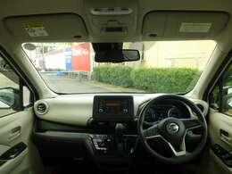 フロントガラスが大きいと見晴らしも良く運転しやすいですよ