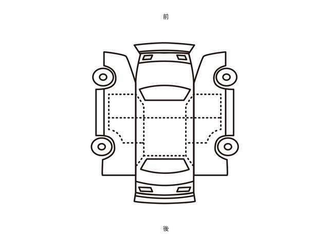 車両状態の展開図です。キズの程度などはこちらをご参考ください。※あくまでも目安です。実車とはキズの状態や数が異なる場合もございますので詳しい車両状態はお問合せ下さい。