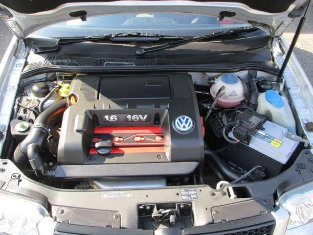 1.6リッターのNAエンジン 次の世代からはターボエンジンに替わりますので、NA&MTのGTIはこれが最終のモデルになりますね。タイミングベルト・ウォーターポンプ交換してお渡しします
