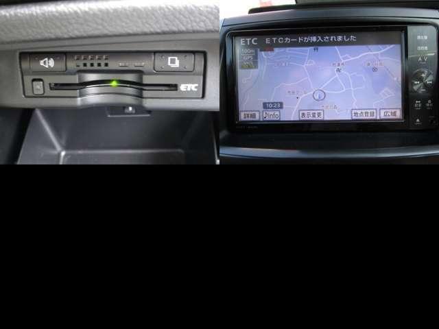 ナビ連動ETC付で、高速道路の割引も利用出来、料金をモニターに表示します。