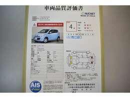 AIS社の車両検査済み!総合評価4点(評価点はAISによるS~Rの評価で令和3年1月現在のものです)☆お問合せ番号は40120594です♪