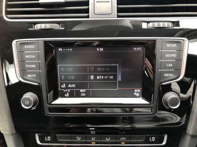 純正オーディオはCDやBluetooth、各種外部入力に対応しております。