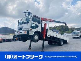 UDトラックス コンドル 4tセルフローダー ハイジャッキ 古川製ユニック 3段クレーン ロング ETC