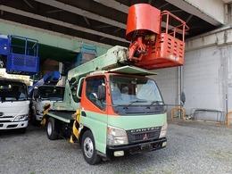 三菱ふそう キャンター キャンター 高所作業車 AICHI製SS12A 積載荷重200kg 走行距離75000km