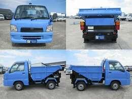 荷台を動力によって傾斜させ、土砂などの積み荷をおろせるようにしたトラック。