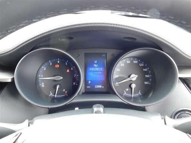 視認性の高い2眼コンビネーションメーター。走行距離は22898km(入荷時)