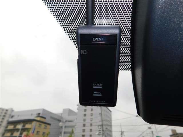 万が一の時の決定的瞬間を記録するドライブレコーダーも装備しています。