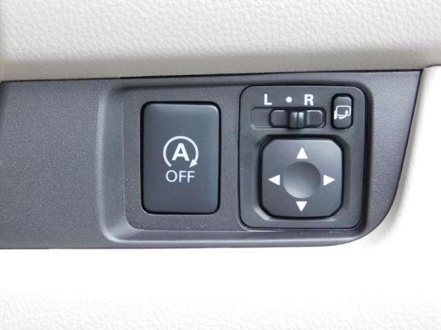 信号待ち等でエンジンが停止するアイドリングストップ機能付きです。作動には条件が御座いますので詳しくはスタッフにご相談ください。