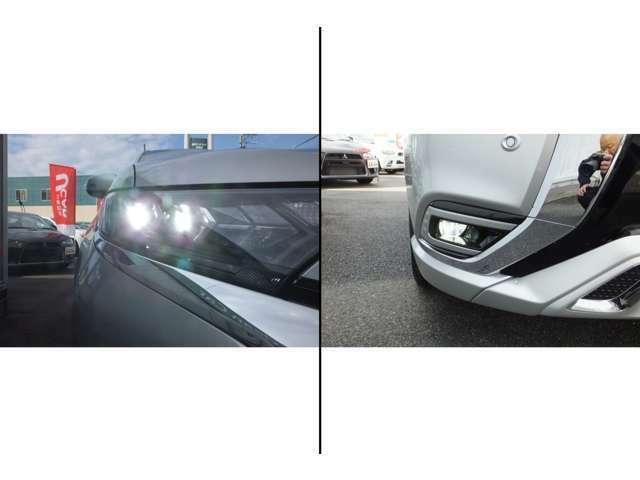 ヘッドライト及びフォグランプは、省エネで明るい「LED」を採用しております♪