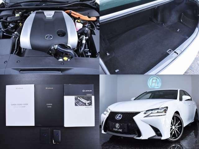エンジンル-ムやトランクルームもクリーニング施工済みです。入庫時に加えご納車前にも点検を実施しており、安心の記録簿付となっております。
