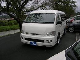 トヨタ ハイエース 2.7 GL ロング ミドルルーフ 外ナビTVベッド仕様 ダウンサス