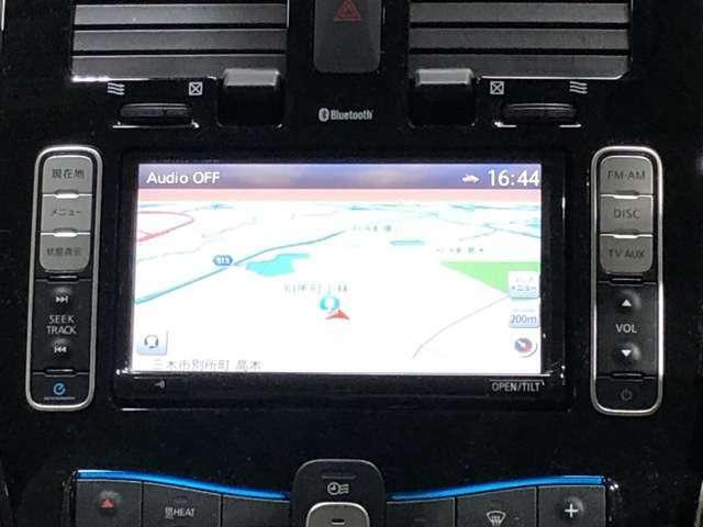 EV専用のナビゲーションには充電スポットの検索機能以外にもタイマー充電の設定や、冬・夏に便利なタイマーエアコンなどの便利な機能が付いています!もちろん振るセグ地デジTVや、ブルートゥース接続も可能です