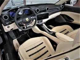 フル電動シート ホワイトレザーインテリア ブラックステッチ デイトナシート シートヒーター LEDカーボンステアリング