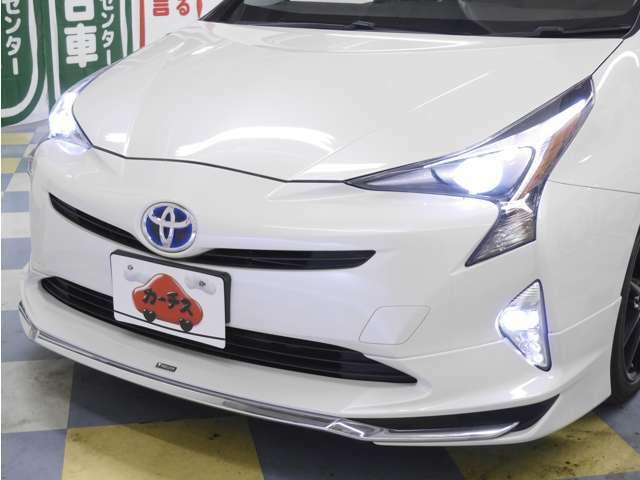 「LEDヘッドライト」明るい!省電力!長寿命!暗い夜道も安全に運転できますね♪