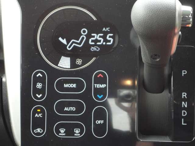 ワンタッチでお好みの温度に設定可能なオートA/Cです♪