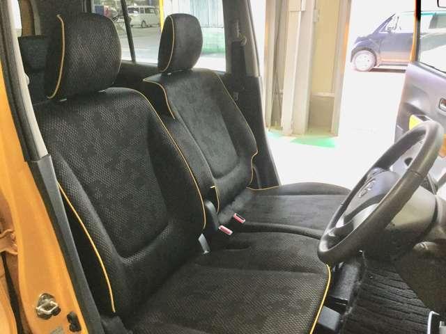 フロントシートです。ゆったりとした足元で長距離でも疲れにくいです。