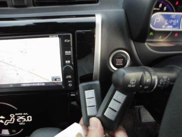 スイッチ操作で「キー開け閉め・エンジンのオンオフ」ができる便利な『インテリジェントキー』