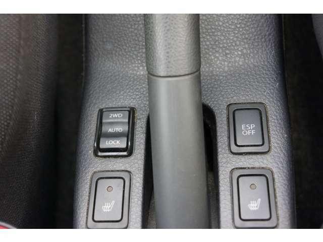 切替式の4WD&ESP