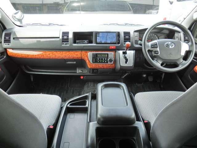 Wエアバッグ/ABS/スマートキー/イモビライザー/アクセサリーコンセント(AC100V)/木目調インテリアパネル/純正ETC/フロントオートエアコン/リヤクーラー/リヤヒーターが装備されています。