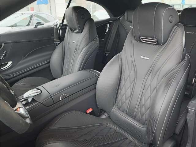 デジーノフロントシート シートヒーター&クーラー ネックヒーター マッサージ機能付 メモリー機能付パワーシート AMGエンボス加工