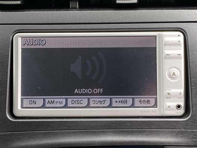 オーディオ画面になります。CD、ワンセグTVなどが使えます。ロングドライブも退屈しないですよ。